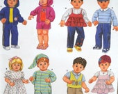 Simplicity 3517 15 Inch Baby Doll Clothes Pattern, Factory Folded Uncut Doll Clothing Sewing Pattern