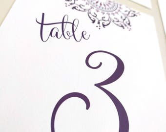 Downloadable Indian Wedding Table Numbers