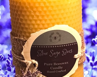 Large Honeycomb Beeswax Candle
