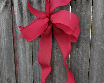 Wreath Bow, Red Wreath Bow, Christmas Wreath Bow, Summer, Bow for Wreath, Messy Bow, Lantern, Wedding Decor, Lantern Bow