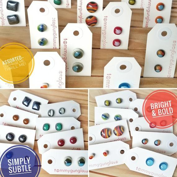 Handmade Glass Stud Earring Subscription!