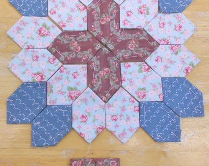 Lucy Boston Patchwork of the Crosses summer cottage block kit #13