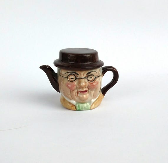 Vintage 1950's Artone Miniature Toby Teapot Made in England