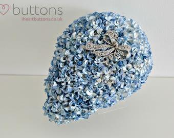 Blue Teardrop Flower and Brooch Bouquet - Ready Made