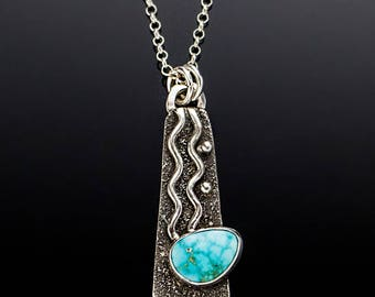 Squiggle - Turquoise Necklace