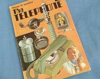 Vintage Ladybird Book How it works - The Telephone - Series 654 - Matt Covers - Tally 320 - Revised Price 24p