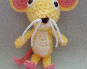 Made to order, Hand crocheted Wallykazam Flouse in the House Yellow Mouse Amigurumi Doll