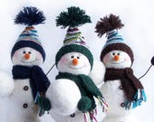 "Custom Order - 3 large snowman. 40cm/16"" tall"