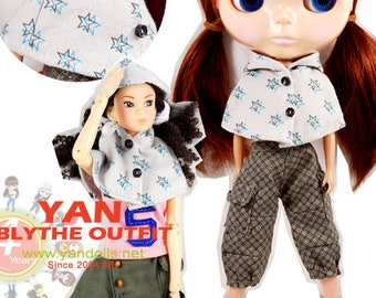 Clearance Sale - YAN - Star Cape for Blythe doll