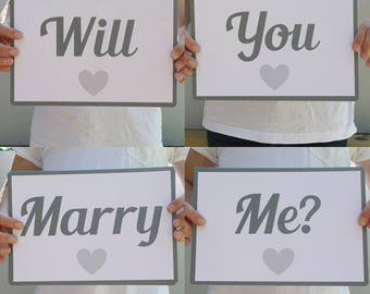 Will You Marry Me? sign flashcards