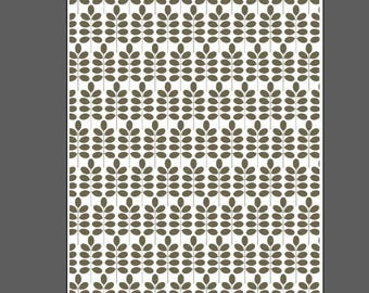Leafy Branch large - laser engraved texture sheet for rolling mill and metal clay