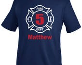 Fireman Birthday Shirt, boy birthday shirt, firetruck birthday, fireman shirt