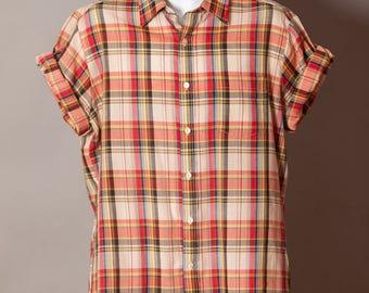 Vintage Men's Light Weight Short Sleeve Button Down - BAY HILL CLASSICS - L