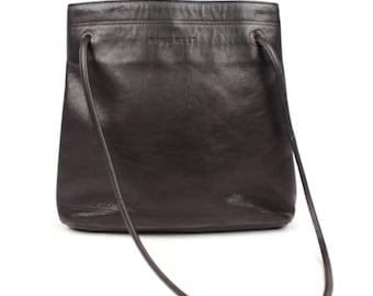 90s leather minimalist bag // nine west