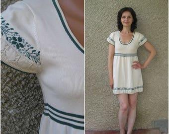 Vintage Cotton Knit Tunic Dress, size S