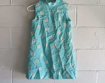 Vintage 60s/70s Retro Daisy Mini Dress