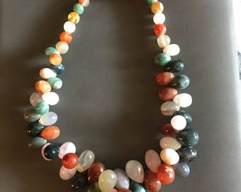 Chunky Natural Semi Precious Stone Necklace