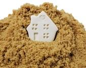 Tiny house Brown Sugar Softener, Sugar Saver, Ceramic House, Ready to Ship