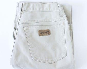 Vintage Wrangler Ohio Jeans Straight Leg Mid Rise Beige W 30 L 32