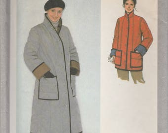 Quilted Coat or Jacket Pattern Simplicity 9169 Size 12 Uncut
