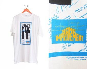 vintage t shirt / Home Improvement / 90s tv show / 1990s Home Improvement Just Fix It t shirt Large