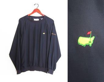 vintage windbreaker / Masters jacket / 90s windbreaker / 1990s Augusta Masters pull over windbreaker Large