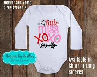 Valentine's Day Bodysuit - Little Miss XOXO Bodysuit - Baby's First Valentine - Valentine's Bodysuit - Valentine Shirt