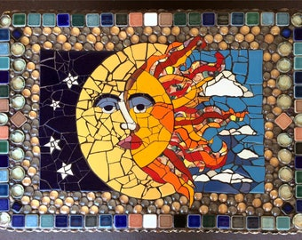 Moon Mosaic Etsy