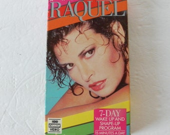 Raquel Welch Fitness VHS Video Tape Box Cover Pre-Owned