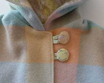 ice cream colours vintage styled woollen girls jacket for size 3