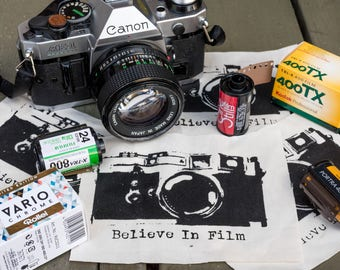 Believe In Film - Photography Punk Silk-Screened Patch