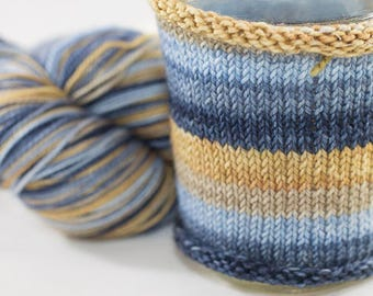 Hand Dyed Self Striping Yarn, Cancer Colorway