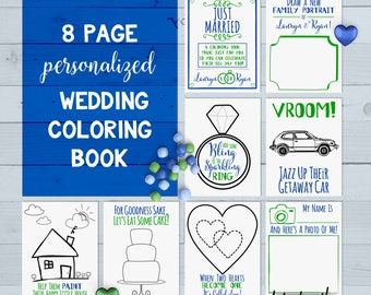 Wedding coloring book | Etsy