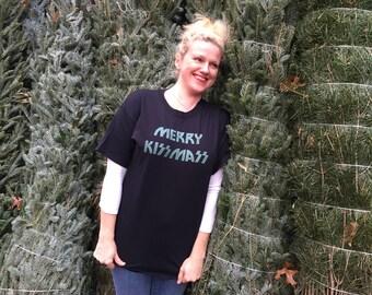Merry KISSmass screen printed t-shirt