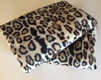 Two Vintage 50s Twin Faux Leopard Bedspreads
