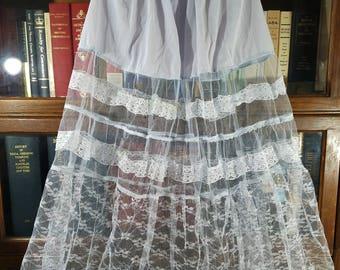 Beautiful 1950s Pale Blue Crinoline Petticoat