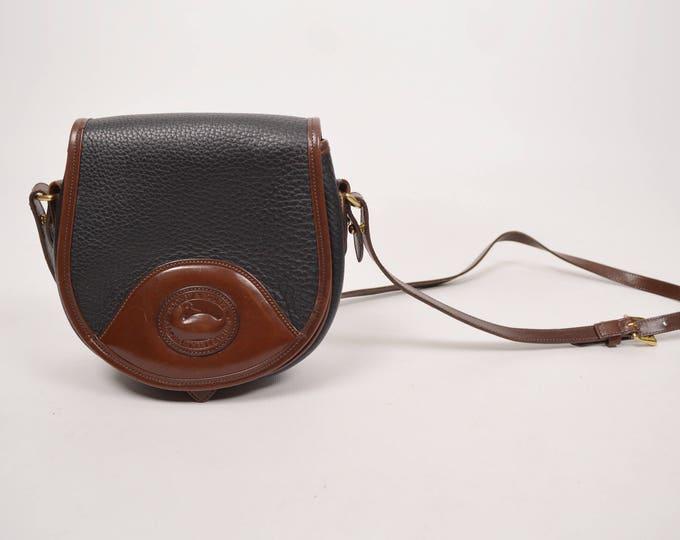 Dooney & Bourke Equestrian Saddle Bag All Weather Leather crossbody vintage