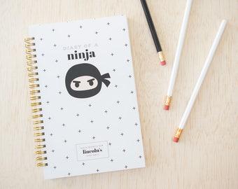 Ninja Notebook for Kids. Kid Notebook. Boy Notebook. Ninja Notebook. Ninja Journal. Personalized Notebook. Back to School. Gifts for Kids.