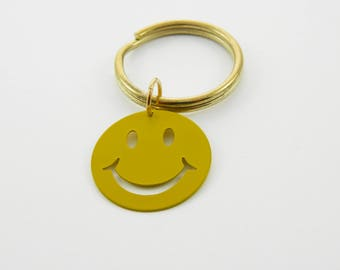 Vintage Smiley Face Keychain
