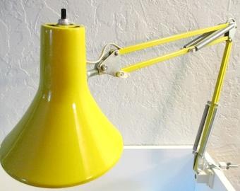 Retro Yellow LUXO Articulating Architect Desk Lamp