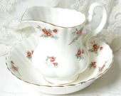 Richmond porcelain creamer vintage floral creamer floral chocolate bowl shabby chic Richmond Rose Time red roses creamer