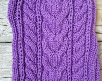 Hand Knit Dog Sweater -Dog Coat- Dog Costume- Dog Clothes-Size M