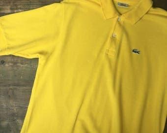 Yellow Lacoste Polo Shirt