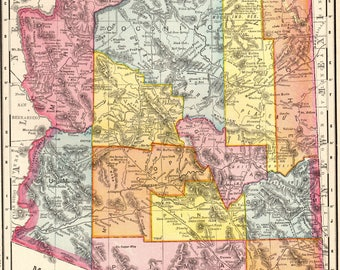 Arizona Map Etsy - Arizona map