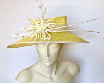 Yellow Kentucky Derby Hat Yellow Derby Hat Yellow Easter Hat