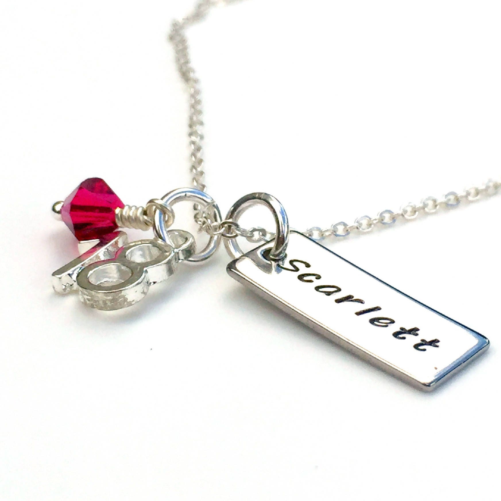 Personalised 18th Birthday Gift Keepsake Necklace