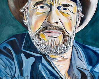 9x12, 18x24, 40x50 Giclee Fine Art Print of Original painting on paper by artist Natalie Jo Wright, contemporary, pop art, country music