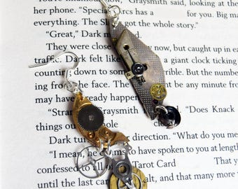 Antique Style SteamPunk Cog Earrings made with Genuine watch parts | Upcycled steam punk Earrings | Recycled Jewellery