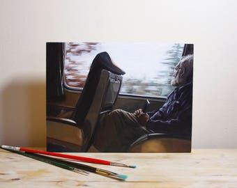 Custom Portrait Oil Painting from Photo Custom Wood Portrait Wood Panel Painting