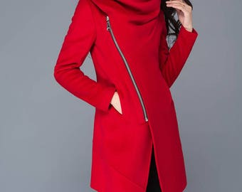 Winter coat cowl asymmetrical coat coat winter coats